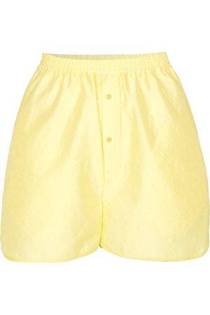Cecilie Bahnsen Ebbe matelassé high-waist shorts