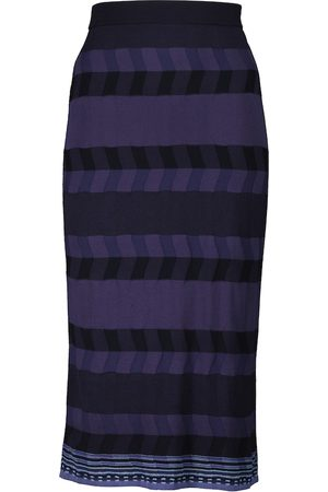 Diane von Furstenberg Rosa ribbed-knit midi skirt