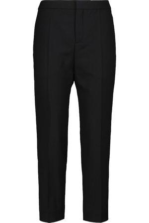 Chloé High-rise slim wool-blend pants