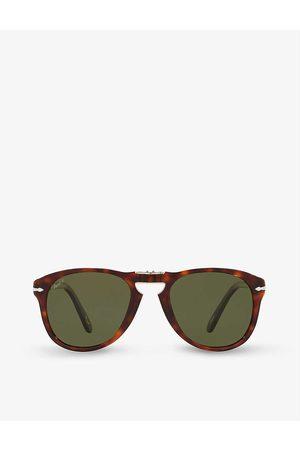 Persol Women Sunglasses - PO0714SM Steve McQueen pilot-shape crystal glass and acetate sunglasses