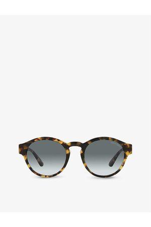 Giorgio Armani Men Sunglasses - AR8146 panthos-frame bio-acetate and crystal sunglasses