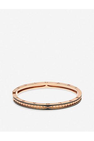 Bvlgari B.zero1 18ct rose- and ceramic bracelet