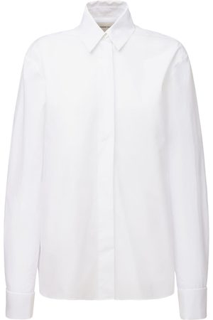 ALEXANDRE VAUTHIER Cotton Poplin Shirt W/ Tuxedo Collar