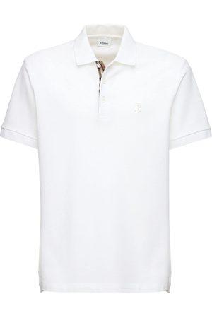 Burberry Tb Logo & Check Heritage Piqué Polo