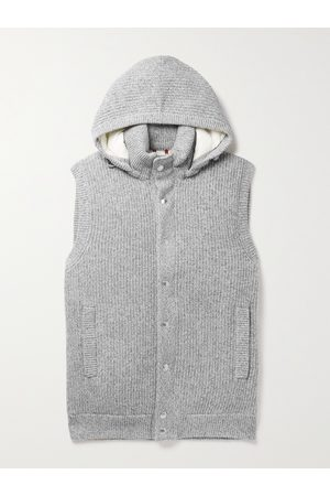 Brunello Cucinelli Padded Cashmere Hooded Gilet