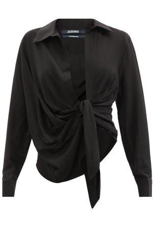 Jacquemus Bahia Plunge-neck Tie Shirt - Womens
