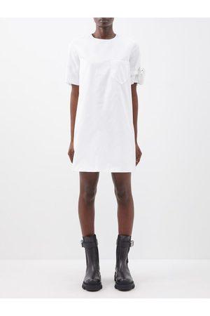 Prada Sleeve-pouch Re-nylon Mini Dress - Womens
