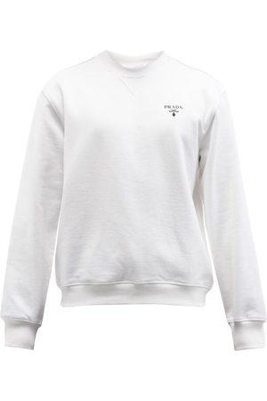 Prada Logo-print Cotton-jersey Sweatshirt - Mens