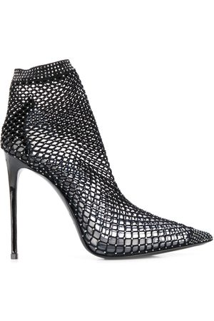 Le Silla Women Ankle Boots - Mesh pointed toe ankle boots