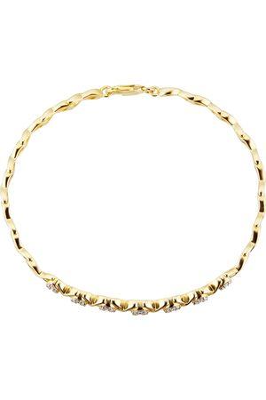 Goldsmiths Women Bracelets - 9ct Yellow Gold 0.5ct Diamond Cluster Bracelet