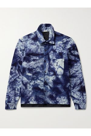 Post-imperial Men Ties - Ikeja Satin-Trimmed Tie-Dyed Cotton-Canvas Jacket