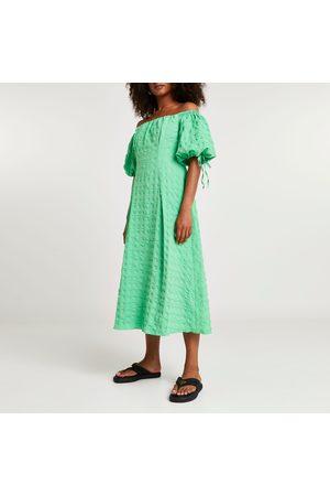 River Island Women Midi Dresses - Womens textured bardot midi dress