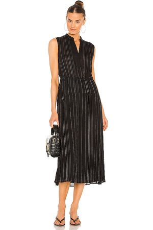 Vince Drapey Stripe Tiered Dress in . Size 00, 2, 4, 6, 8.
