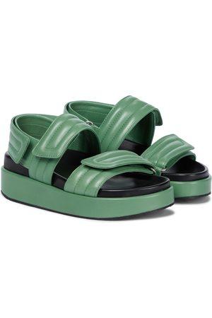 DRIES VAN NOTEN Women Sandals - Leather slingback sandals