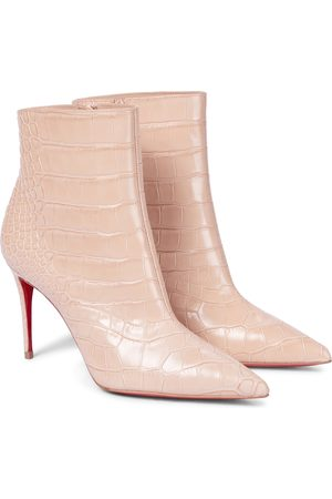 Christian Louboutin Croc-effect leather ankle boots