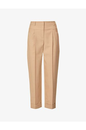 Claudie Pierlot Pala tapered-leg stretch wool-blend trousers