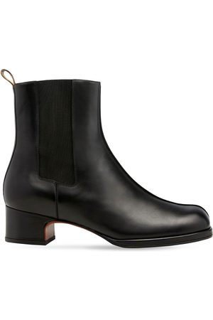 MANU 40mm Short Chae Leather Chelsea Boots