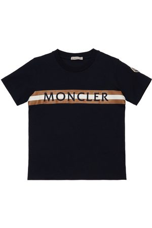 Moncler Embroidered Logo Cotton Jersey T-shirt