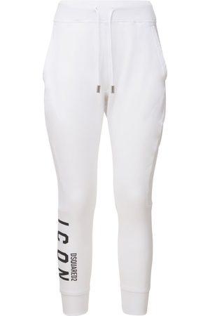 Dsquared2 Women Sports Trousers - Icon Logo Cotton Jersey Jogging Pants