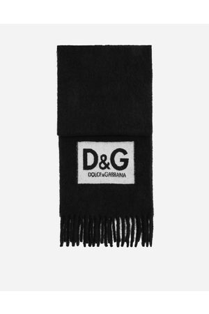 Dolce & Gabbana Scarves and Silks - Wool scarf with D & G patch male OneSize