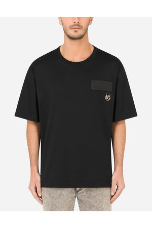 Dolce & Gabbana T-Shirts and Polos - Cotton T-shirt with DG patch male 48