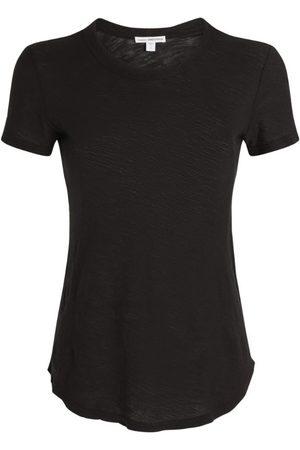 James Perse Women T-shirts - Cotton Sheer Slub T-Shirt