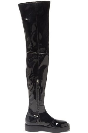 Givenchy Women High Leg Boots - Patent-leather Over-the-knee Boots - Womens