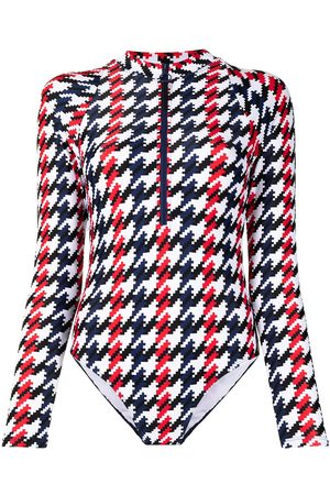 Perfect Moment Spring houndstooth-print surf wetsuit