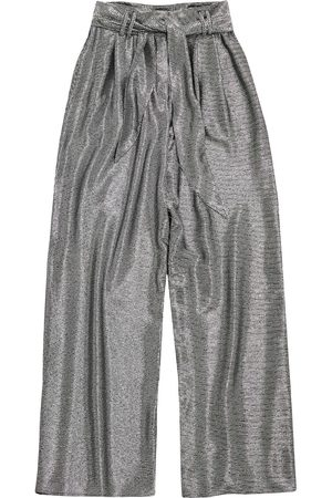 Christopher Kane Lamé-effect wide-leg trousers