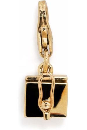 TOM WOOD Box Charm 9kt yellow pendant