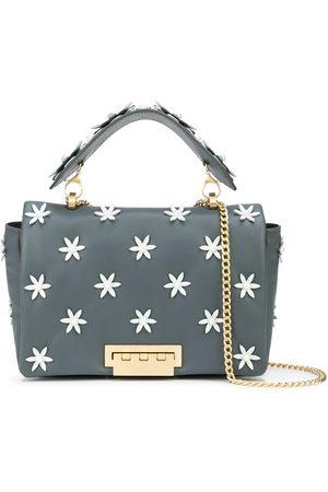 Zac Zac Posen Jumbo floral-appliqué leather shoulder bag