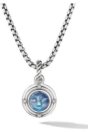 David Yurman Sterling moonstone and diamond amulet