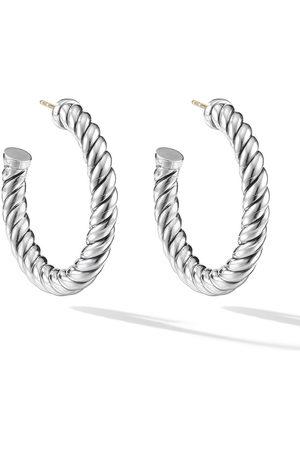 David Yurman Women Earrings - Sterling Cable Hoop earrings
