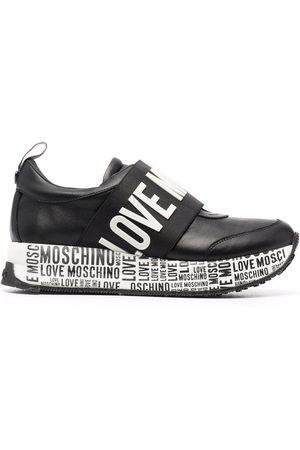 Love Moschino Women Trainers - Logo-print slip-on sneakers