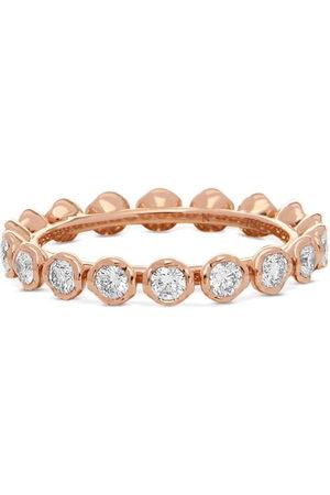 ANNOUSHKA 18kt rose gold Marguerite diamond eternity ring