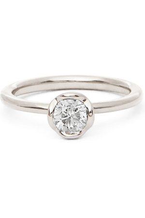 Annoushka 18kt white gold solitaire diamond engagement ring