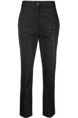 Roberto Cavalli Leopard slim-cut trousers
