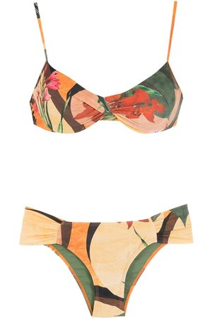 Lygia & Nanny Women Bikinis - Vitória leaf-print bikini