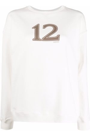 12 STOREEZ Logo-print cotton sweatshirt