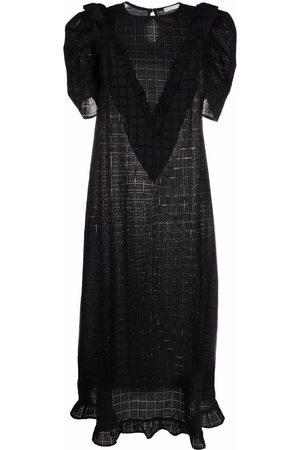 12 STOREEZ Embroidered cotton midi dress