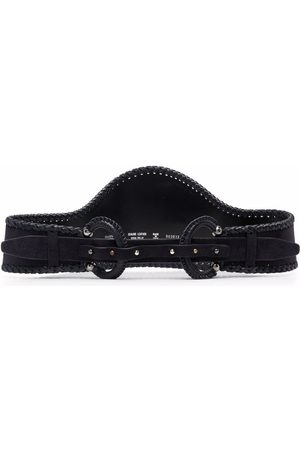Gianfranco Ferré 2000s curved effect double-buckled suede belt