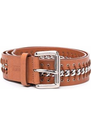 Gianfranco Ferré 2000s lace-up detailing leather belt