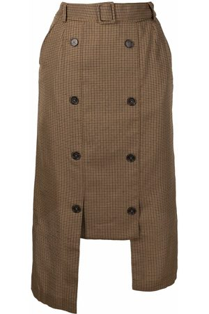 Rokh Women Skirts - Asymmetric double-breasted skirt - Neutrals