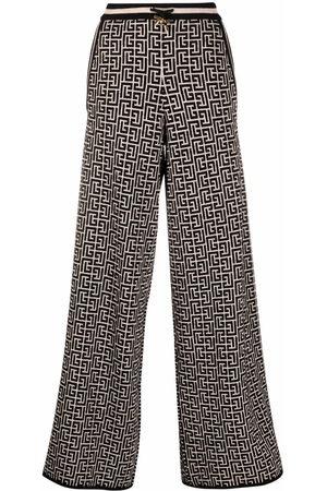 Balmain Drawstring palazzo trousers - Neutrals
