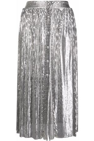 Paco rabanne Metallic-mesh midi skirt