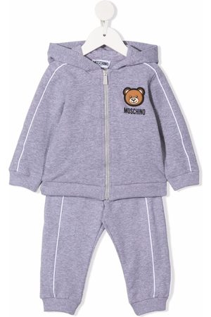 Moschino Teddy-patch hoodie tracksuit set