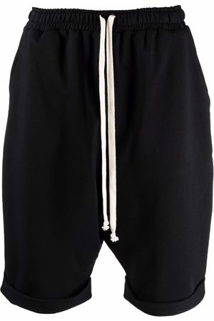 Alchemy Dropped-crotch knee-length shorts