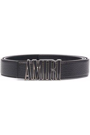 AMIRI Logo-plaque leather belt