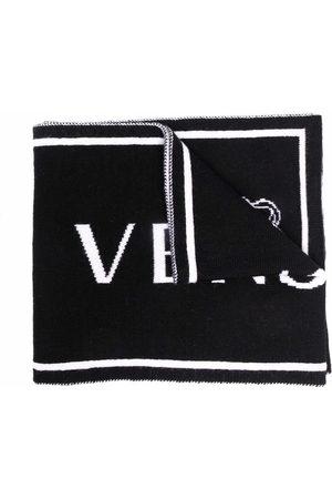 VERSACE Medusa intarsia-knit scarf