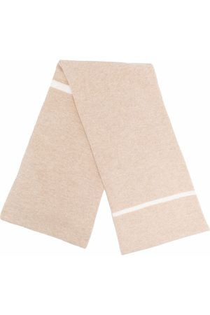 LORENA ANTONIAZZI Block-stripe scarf - Neutrals